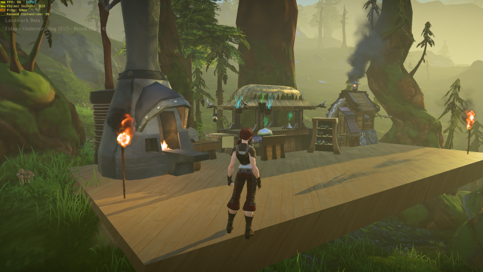 View of crafting area