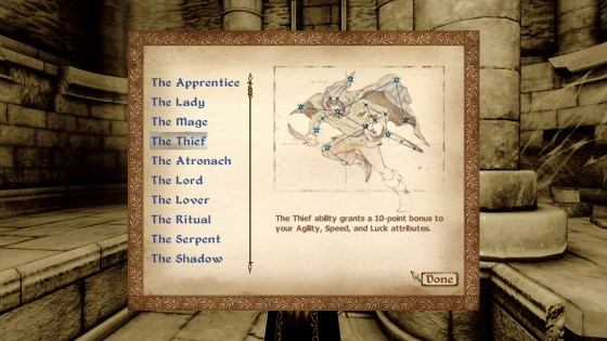 Oblivion birthsign: The Thief
