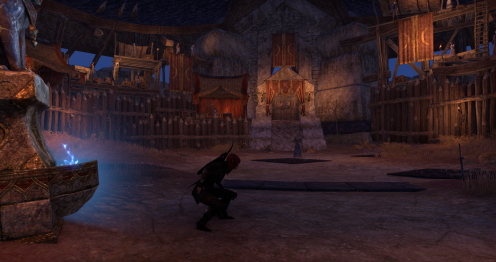 The Arena, pfft of course I start by sneaking, nightblades don't fight fair :D