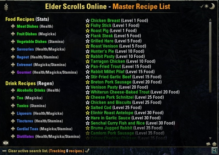 ESO Crafting Addon