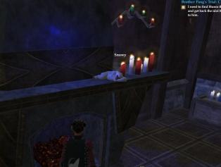 monkey asleep on fireplace