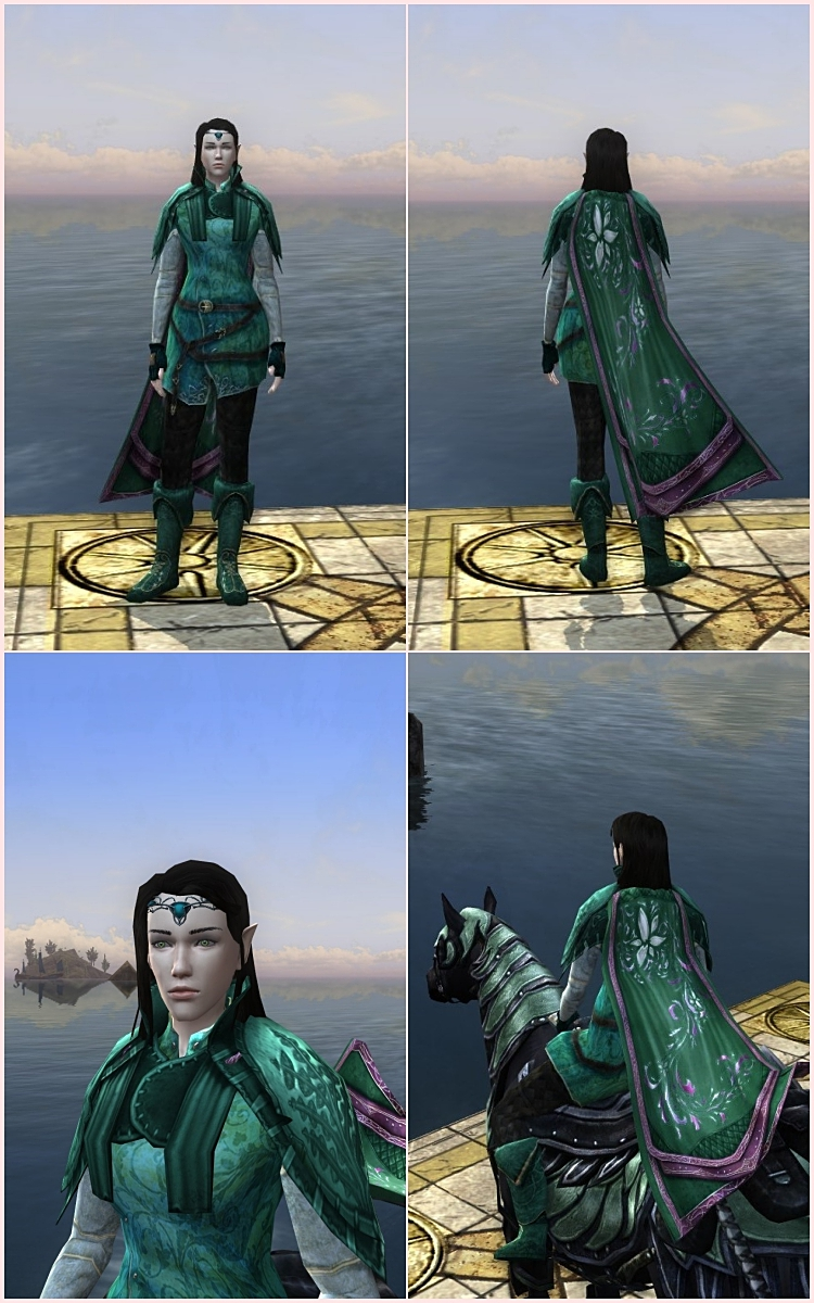 Lord of the Rings Online, outfit for a High Elf Minstrel