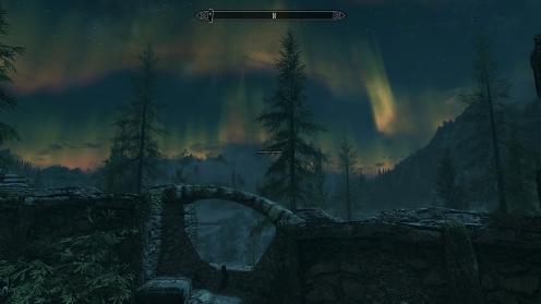 skyrim aurora borealis