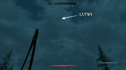 skyrim lydia hit by a giant