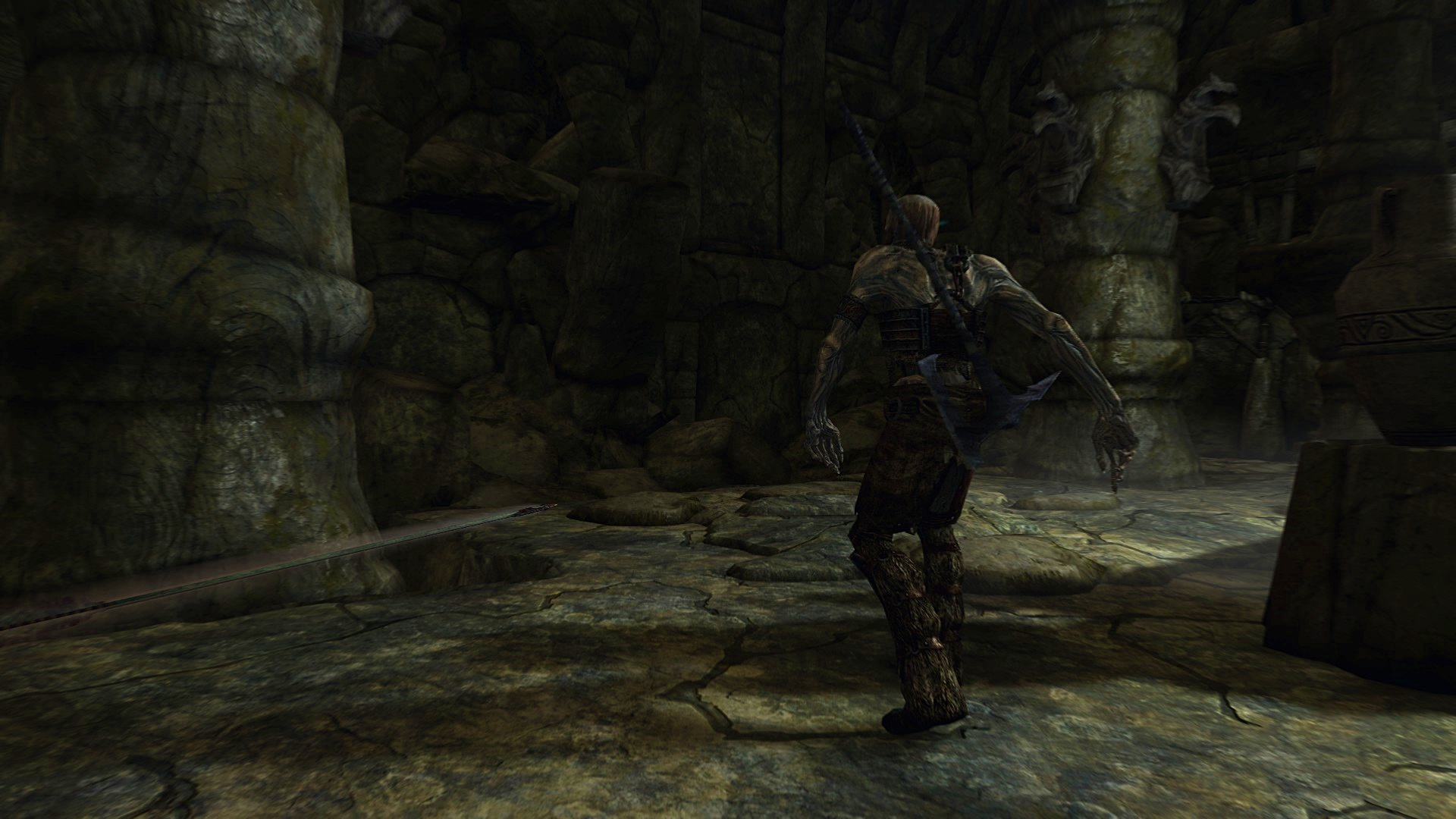 Skyrim Draugr being hit by an arrow
