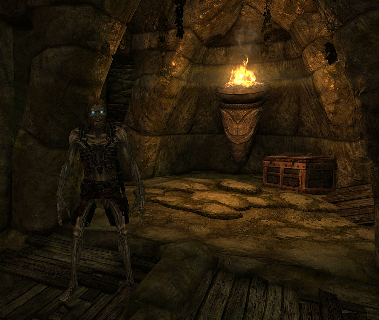 Skyrim Draugr and Treasure Chest